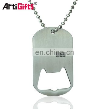 Made In China Factory Free Samples Metal Bottle Opener Dog Tags