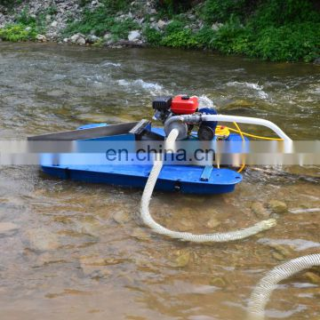 Shallow river gold dredger gold rusher machinery