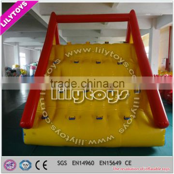 SGS certificated inflatable floating water slide, inflatable lake toys, inflatable beach water slide for sale