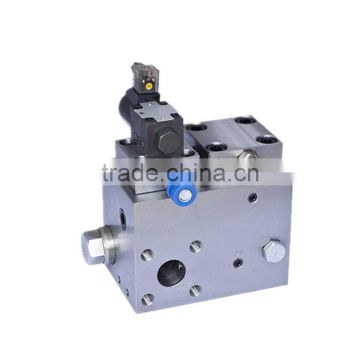 hydraulic valve group for rising machine
