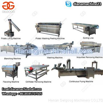Automatic Frozen French Fries Making Machine Production Line