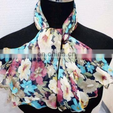 Woman Fashion Polyester Printing Long Neckwear