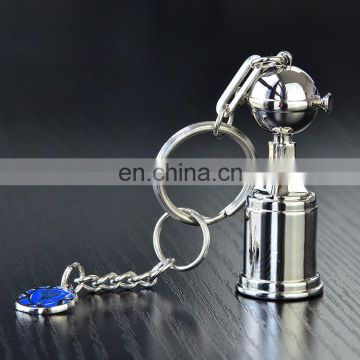 Wholesale custom design cheap 3D airplane shape metal keychain keyring