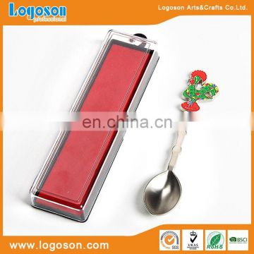 New design upmarket eco-frinedly material silver souvenir metal spoon