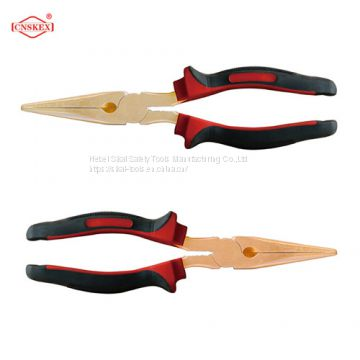 non sparking safety hand tools BeCu AlBr long nose pliers 6