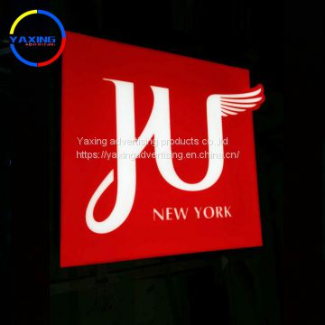 Outdoor advertising products billboard mini acrylic led sign and letters for shop open sign led light box