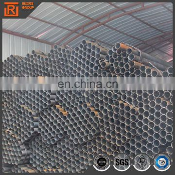 26mm diameter steel welded round hollow pipe, bare black steel pipe 6m length price per ton