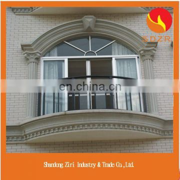 Europe style upvc arched glass windows for church