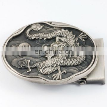 China manufacturers Custom 3D Antique Style Dragon Belt Buckles