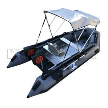 (CE) China Inflatable 3.3m Fishing Rubber Rowing Boat Dinghy With Tent
