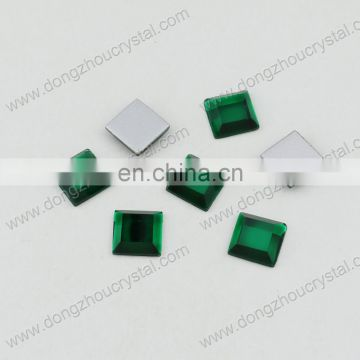 DZ-1008 flat back crystal stones with or without holes for dress making