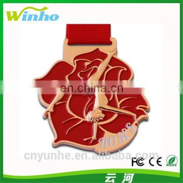 Winho red rose dance medal