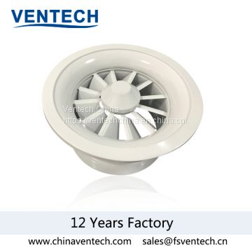 HAVC adjustable aluminum round swirl air diffuser China supplier