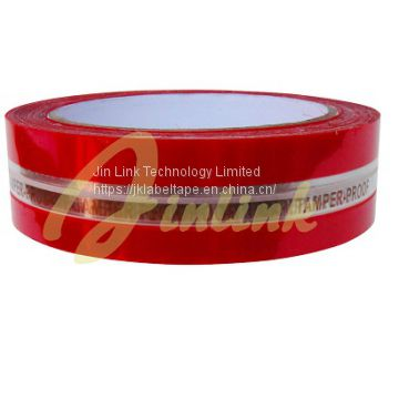 Tamper evident security tape for bags,Tamper Proof VOID Tape,Total Transfer Tape
