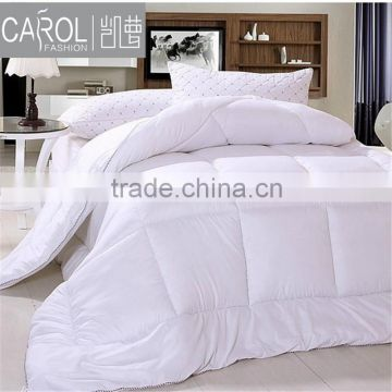 100% cotton white plain bed sheet quilt bedding set for hotel