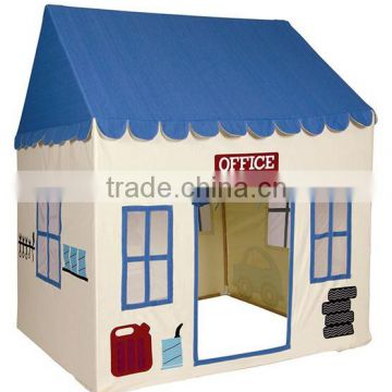Wholesale OEM duty cotton canvas indoor wooden children toy house boy kids  play tent house