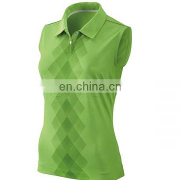Fashion dry fit sublimation sleeveless golf t shirt