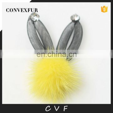 Handmade fur pompom accessory for garment,shoes,bags decoration