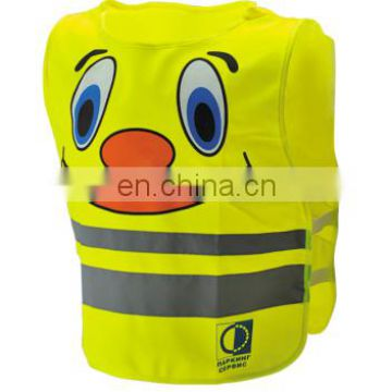 High Visibility Yellow Kids Safety Vest with Any Customized Design Logo