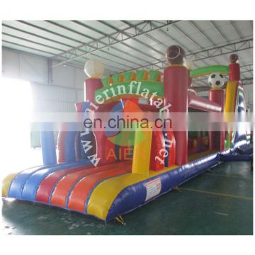 hot sale inflatable obstacle course/commerial soccer obstacle equipment