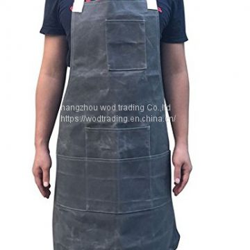 Grey fabric apron with waterproof fabric for selling