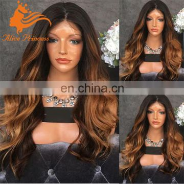 100% russian virgin hair wigs ombre dark roots human hair blonde wigs wholesale lace front wigs