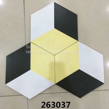 Glazed Porcelain 300x260mm Large Hexagon Floor Tile