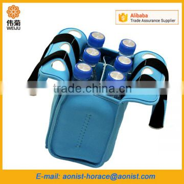 Insulated neoprene six pack beer bottle carrier, portable picnic beer cooler bag                                                                         Quality Choice