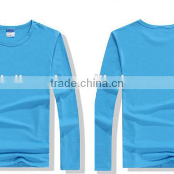 Wholesale Plain Cheap custom t shirt printing long sleeve blank T shirts