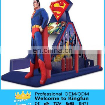Spideman inflatable obstacle games/interactive playground toy
