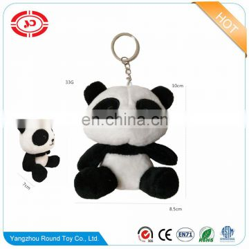 Panda plush soft cute promotional fancy kids gift stuffed keychain toy