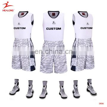 2d872103b95 Sublimated Printing Healong White Basketball Uniforms Fashionable Customized  Men'S Basketball Jerseys of Basketball Uniform from China Suppliers -  157948756