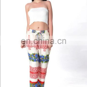 digital printed custumed women pant Trouser plazoo style loose pants breathable casual harem pant trousers