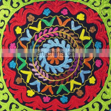 "16"" EMBROIDERED DECORATIVE COUCH PILLOW CUSHION COVER Bohemian Decor Indian Suzani throw cover Hippie Bohemian art wholesale"