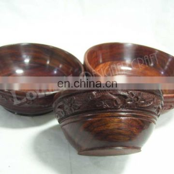 WOODEN SERVING BOWL SET