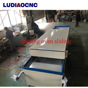 PVC film vacuum hot  laminating press machine for  wood cabinet door