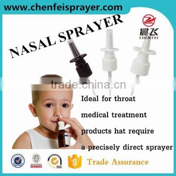 Any color hand pump sprayer small mist spray nasal sprayer atomizer pump sprayer can be custom dosage is 0.12 ml use for bottle
