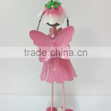 garden flower fairy painted iron flower fairy garden decoration