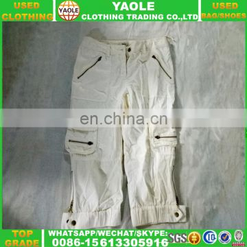 wholesale used clothing second hand cargo pants in bales for summer season