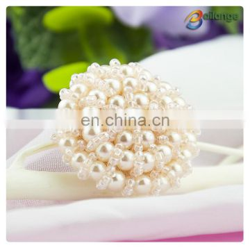 China handmade beaded accessories black cute buttons