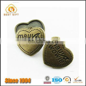 Guangdong Factory Wholesale Custom Cheap Garment Accessories Metal Buttons for Coat