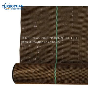 brown color heavy duty PP / PE anti weed matting ground cover roll