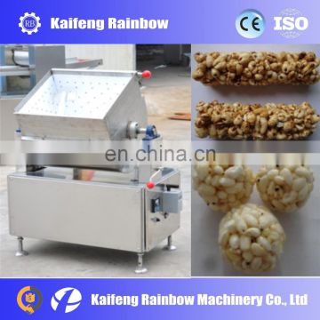 Lowest Price Big Discount popcorn ball form machine puffing puffed cereal bar making machine,cereal bar forming machine