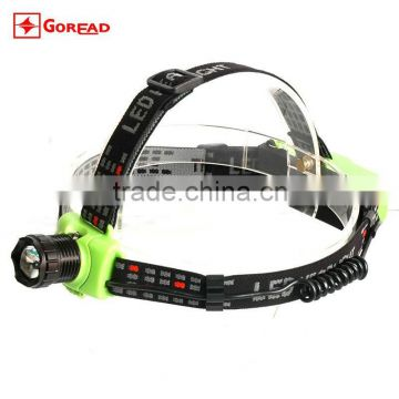 Goread GR01 High bright rechargeable zoom head lamp 4 colors R2 LED head torch
