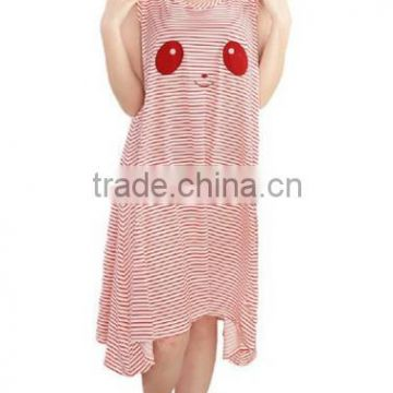 Women's Panda Sleeveless Nightgown Nightwear Pajamas Dress