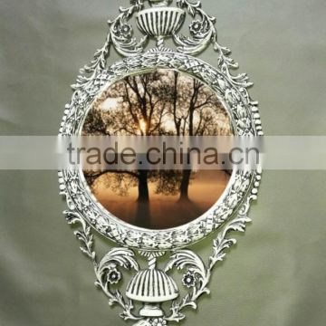 silver colour top quality wall mirror