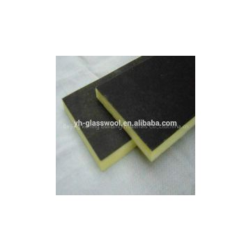 Glass wool with black facing