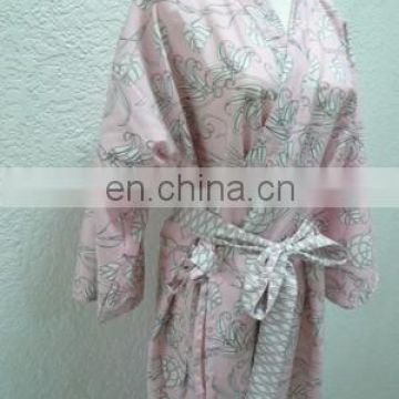 Chinavictor Soft Warm 100% Cotton Hot Sex Girl Adult Free Size Japan Bathrobes