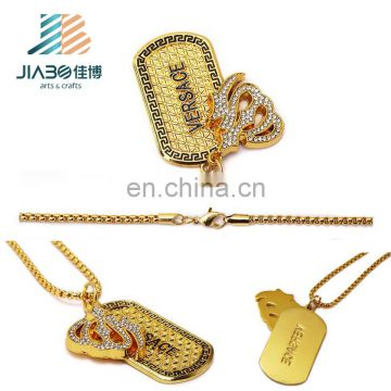 New xvideos professional gold custom dog tag manufacturer, custom logo jewelry tags