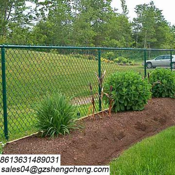 Guangzhou fence supplier hot sale pvc coated chain fence for project
